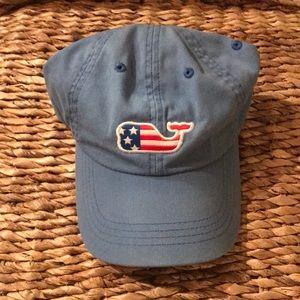 Vineyard Vines American Flag Whale Hat